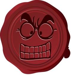 Wax seal Smiley 4 vector