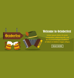 welcome to octoberfest banner horizontal concept vector image