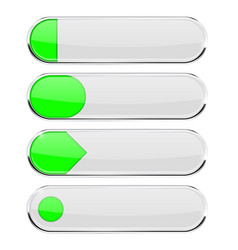 white buttons with green tags menu interface vector image
