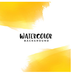 Yellow watercolor background with text space vector