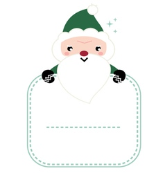 Cute beautiful green Santa isolated on white vector image vector image