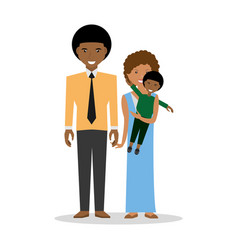 family couple carrye son childhood vector image