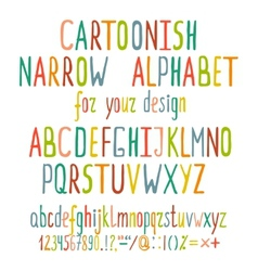 Hand Drawn Cartoon Alphabet Letters vector image vector image