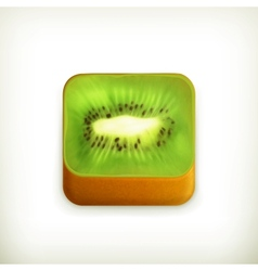 Kiwi app icon vector image vector image