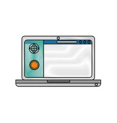 pc laptop business vector image