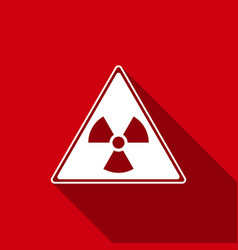 triangle sign with a radiation symbol flat icon vector image