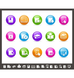Book Icons Rainbow Series vector image