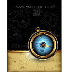 compass with ornate frame vector image vector image