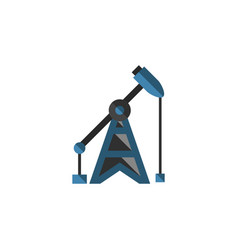 Isolated oil pump flat icon rig element vector