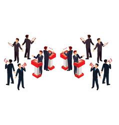 isometric people businessman vector image