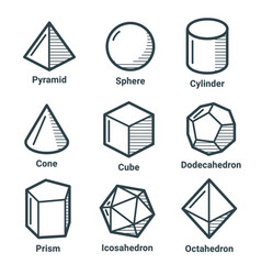 line isometric shapes vector image