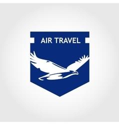 logo air travel company Tourist trip The vector image