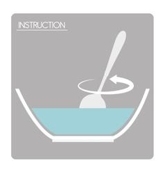 Preparation instructions icon vector