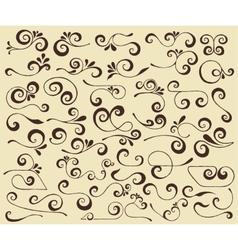 Swirls set vector