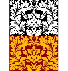 Beautiful seamless pattern in retro damask floral vector image vector image
