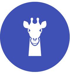 Giraffe face vector