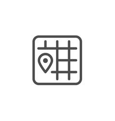 location line icon vector image vector image