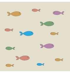 pattern of fish vector image vector image