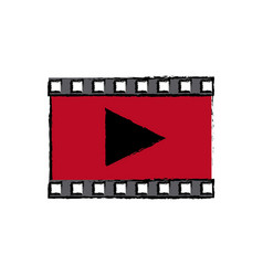 Play video multimedia music web icon vector