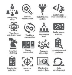 product management icons vector image vector image