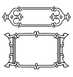 Russian style black ornamental decorative frame vector image vector image