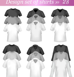 black and white tshirt design vector image