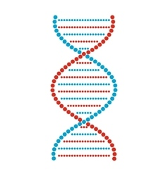 Flat DNA and molecule sign vector image