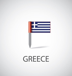 greece flag pin vector image vector image