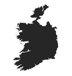 Ireland map simple black white silhouette vector