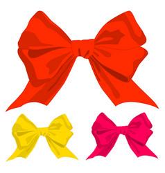 ribbon bow holiday gift set vector image vector image