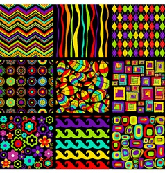 Stylish seamless patterns vector image vector image