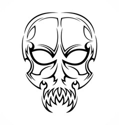Tribal Skull Tattoo Design vector image vector image