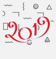2019 new year design vector