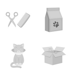 A haircut for cats a house a box a sick catcat vector