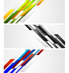Abstract banners with geometric shapes vector