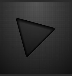 abstract black triangle technology background vector image