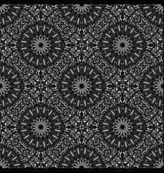 Abstract grey gemstone mandala ornament pattern vector