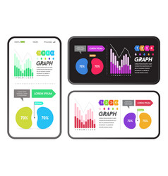 application with infographics elements vector image