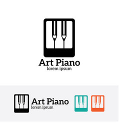 art piano logo design vector image