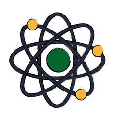 Atom scheme molecule particle science school vector