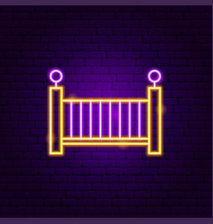 baby bed neon sign vector image