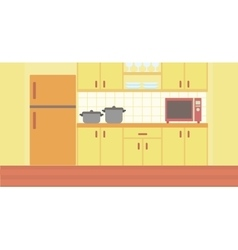 Background of kitchen with kitchenware vector image