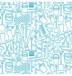 background pattern with garden tools icons vector image