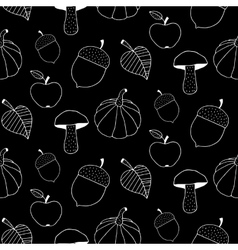 Black And White Autumn Background vector