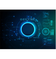 Blue green technology game background vector