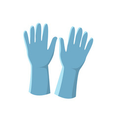 blue latex gloves isolated on vector image