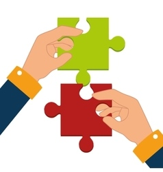 Business teamwork graphic vector image