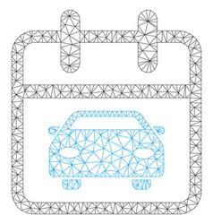 Car day polygonal frame mesh vector