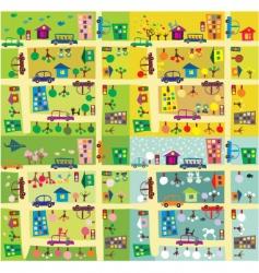 cartoon city map vector image vector image