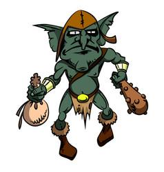 Cartoon image of goblin vector